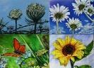 Quadrittico di fiori