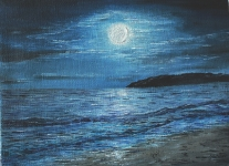 Luna sul mare