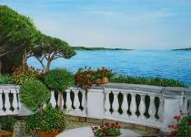 Terrazzo fiorito sul mare