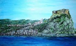 Scilla- Chianalea e la rupe con il Castello Ruffo