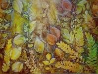 Turbinio di foglie in autunno