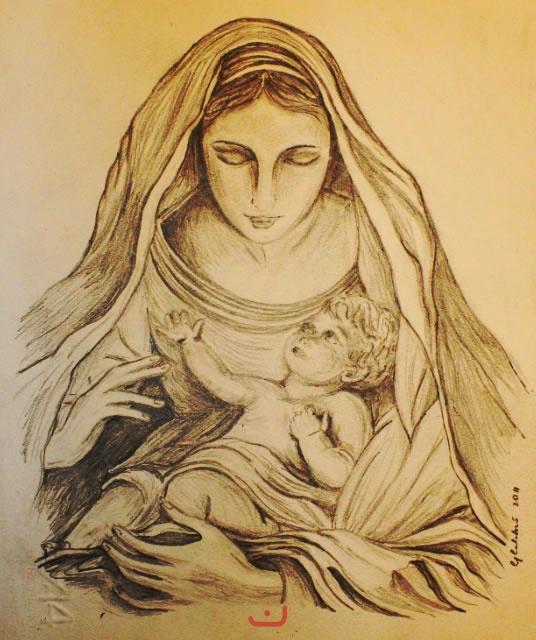 Photo Gallery Categoria Disegni Foto Madonna Col Bambino
